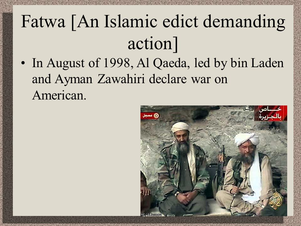 Fatwa [An Islamic edict demanding action]